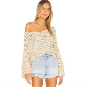 NEW Free People Coconut V Neck Sweater in Neutral